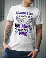 Grandpa's girl i used to be his angel now he's mine tshirt Tshirt Hoodie Sweater