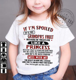 If i'm spoiled it's my grandpa's fault because he treats me like a princess shirt T-shirt