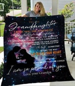 To My Granddaughter I Wish You The Strength Love Your Grandpa Quilt