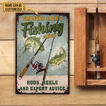 Grandpa Fishing Shop Rods Reels And Expert Advice Personalized Fishing Poster Canvas Gift For Grandpa With Custom Name Poster