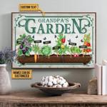 Grandpas Garden Personalizedfarden Vegetables Poster Canvas Gift For Garden With Custom Name Poster