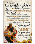 Black Grandpa To My Granddaughter There Was A Little Girl Who Stole My Heart Love Grandma Poster Canvas Gift For Poster