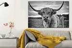 Animal Wall Art Horned Animal Bull Prints Wild Animal Animal Photogr poster canvas