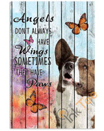 Pallet Painting Dog Corgi & Butterfly Angels Dont Always Have Wings Sometimes They Have Paws Animal Poster poster canvas