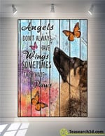 German shepherd angels dont always have wings sometimes thay have paws animal poster poster canvas