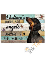 Basset Hound Pallet I Believe There Are Angels Among Us Animal Poster poster canvas