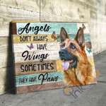 German Shepherd Angels DonT Always Have Wings Sometimes They Have Paws Animal Poster poster canvas