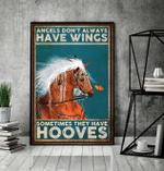 Horse angels dont always have wings they have hooves animal poster poster canvas