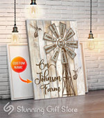 Personalized name windmill we do animals respect planting farmhome decor gift poster canvas