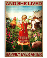 And She Lived Happily Ever After Animal Breeders Poster Gift For Animal Breeders Lovers Girlfriend Poster