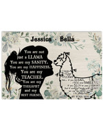 Personalized You Are Not Just An Llama Sanity Girl Silhouette Best Gift Poster Canvas Custom Name For Animal Lovers Poster
