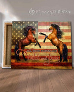 All good things are wild and free Horse American flag poster gift for farmer farming animal breeder personalized custom name date