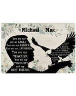 Personalized You Are Not Just An Eagle Sanity Man Silhouette Best Gift Poster Canvas Custom Name For Animal Lovers Poster