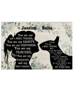 You Are Not Just A Bull Terrier Sanity Girl Silhouette Best Gift Poster Canvas Custom Name For Animal Lovers Poster