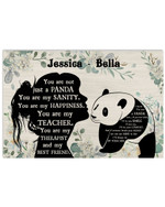 Personalized You Are Not Just A Panda Sanity Girl Silhouette Best Gift Poster Canvas Custom Name For Animal Lovers Poster