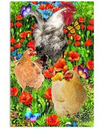 Chickens In The Poppy Garden Color Garden Best Gift Poster Canvas For Animal Lovers Poster