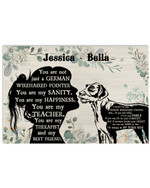 Personalized You Are Not Just A German Wirehaired Pointer Sanity Girl Silhouette Best Gift Poster Canvas Custom Name For Animal Lovers Poster