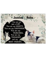 You Are Not Just A Cat Sanity Girl Silhouette Best Gift Poster Canvas Custom Name For Animal Lovers Poster