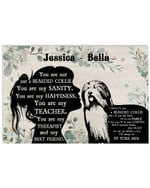 Personalized You Are Not Just A Bearded Collie Sanity Girl Silhouette Best Gift Poster Canvas Custom Name For Animal Lovers Poster