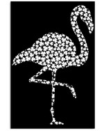 Flamingo Irish Clover Black And White Style Best Gift Poster Canvas For Animal Lovers Poster