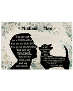 Personalized You Are Not Just A Chihuahua Sanity Man Silhouette Best Gift Poster Canvas Custom Name For Animal Lovers Poster