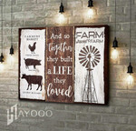 And so together they built a life they loved sweet farm with mindwill and castle wood poster canvas gift for farm animals lovers Poster