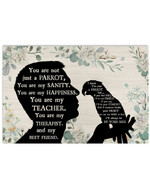 You Are Not Just A Parrot Sanity Man Silhouette Best Gift Poster Canvas For Animal Lovers Poster