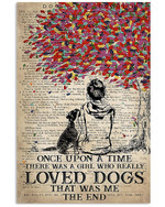 Once Upon A Time There Was A Girl Who Really Loved Boxer That Was Me Poster Canvas Gift For Animal Lovers Poster