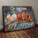 Chicken On Farm One This Farm We Do Animals Planting Caring Farm Poster Canvas Best Gift For Chicken Lovers Farm Lovers Poster