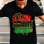 A king was born in october happy birthday to me pan african flag