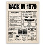 Back in 1970 hot entertainment events vintage retro art birthday gifts 50 year olds 50th anniversary home decor gift