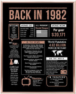 Back in 1982 hot events rose gold art birthday gifts 38 year olds 38th anniversary home decor rose gold gift for man woman