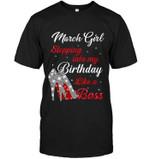 March Girl Stepping Into My Birthday Like A Boss Glittering High Heel