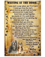 Lhasa apso Waiting At The Door Poster dog birthday gift home decor