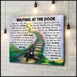 Waiting At The Door Black Labrador Wall Art garden birthday gift home decor