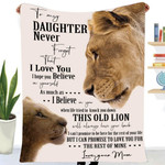To my daughter old lion baby rest love trust promise your back mom family birthday gift