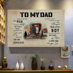 To my dad easy man child little boy truck car my hero apperciated your son family birthday gift