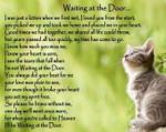 Waiting at the door Beautiful Black Cat Memorial Pet i'll be waiting at the door birthday gift home decor