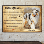 Waiting at the door pet lover birthday gift home decor