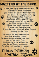 Waiting at the door for dog lover i was a pup when we first met dog pet lover birthday gift home decor