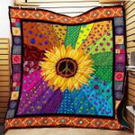 Sunflower hippie gypsy peace happy home decor birthday gift
