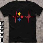Electrocardiogram ecg heart beat stars love health emotion birthday gift t shirt