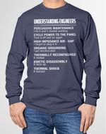 Understanding engineers thermal kinetic reconfigured engine job birthday gift t shirt