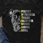 Perfect intelligent tender beautiful unique loving loyal pit bull birthday gift for dog lover