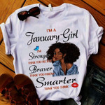 Im jannuary baby power courage intelligent clever than you butterfly birthday gift t shirt