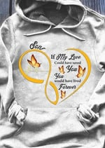 Son my love saved you lived forever heart butterfly electrocardiogram ecg beat family birthday gift hoodie
