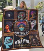 Melanin Culture Black History Turned 60 In Black Girl 60th Birthday Quilt