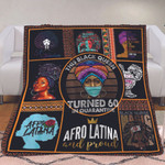 Melanin Culture Black History Turned 60 In Black Girl 60th Birthday Fleece Blanket