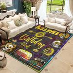 Mimi Of The Birthday Girl Mom Sunflower Gifts sunflower skulls Carpet