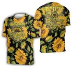 Daddy birthday girl hippie sunflowers seamless 3D T-shirt
